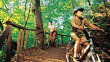Mountain bike trails in North Vancouver